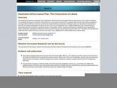 The Colonization of Liberia Lesson Plan