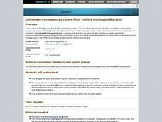 Unintended Consequences: Policies that Impact Migration Lesson Plan