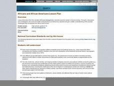 Africans and African Americans Lesson Plan