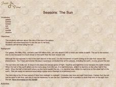 Seasons: The Sun Activities & Project