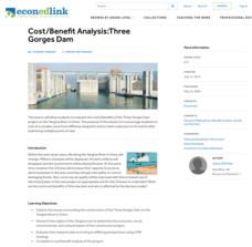 Cost/Benefit Analysis: Three Gorges Dam Lesson Plan