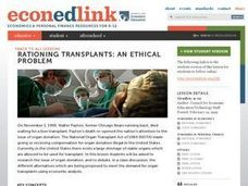Rationing Transplants: An Ethnic Problem Lesson Plan