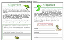 Alligators Worksheet