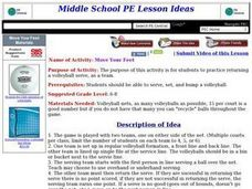 Move Your Feet Lesson Plan