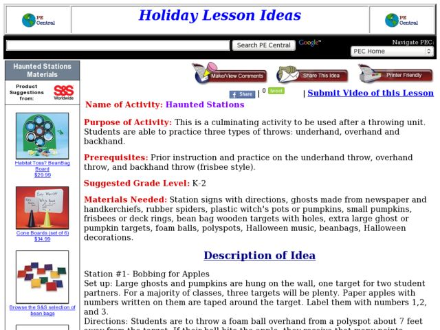 Haunted Stations Lesson Plan