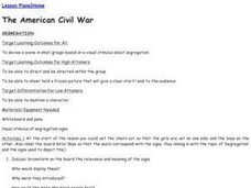 The American Civil War-Segregation Lesson Plan