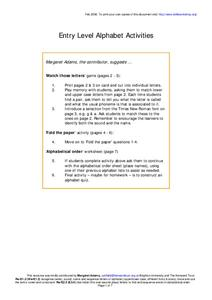 Alphabet Activities Worksheet