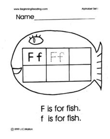 Alphabet Letter F Lesson Plan