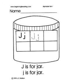 Alphabet Letter J Worksheet