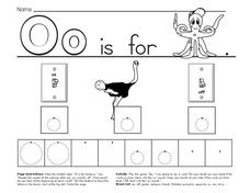 Alphabet Letter O Worksheet