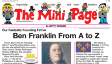 The Mini Page: Ben Franklin from A to Z Worksheet