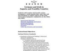 Germans and Irish in Augusta and Franklin Counties Lesson Plan