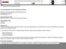 An Introduction to the National Archives Lesson Plan