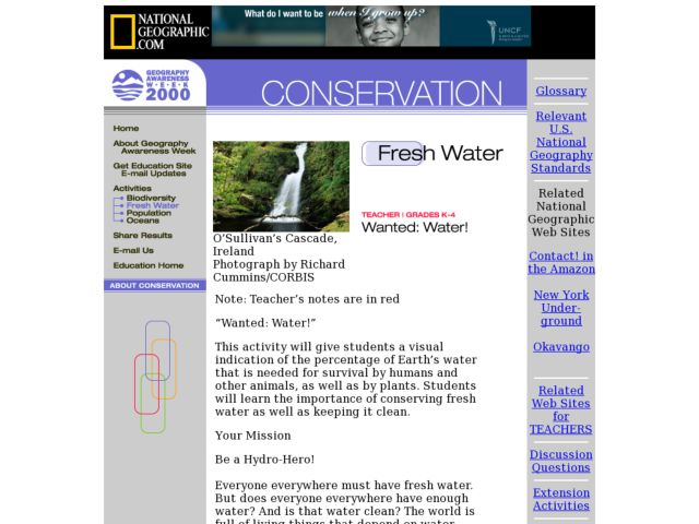 Wanted: Water! Lesson Plan
