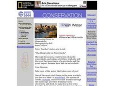Shedding Light on Watersheds Lesson Plan