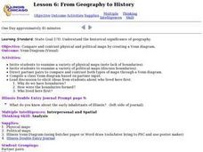 Lesson 6: From Geography to History Lesson Plan