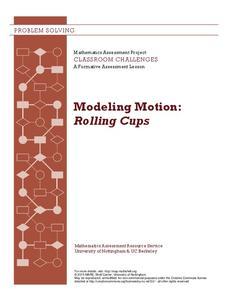 Modeling Motion: Rolling Cups Lesson Plan