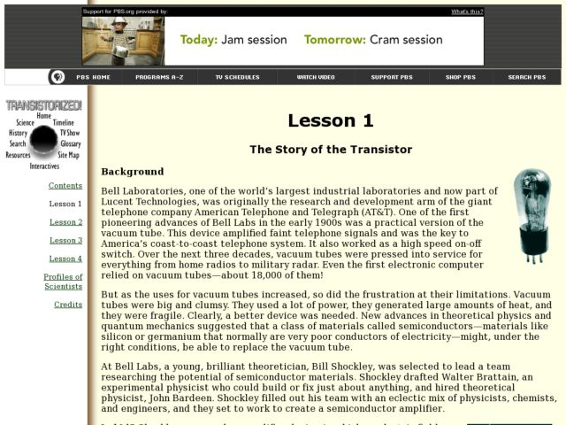 The Story of the Transistor Lesson Plan
