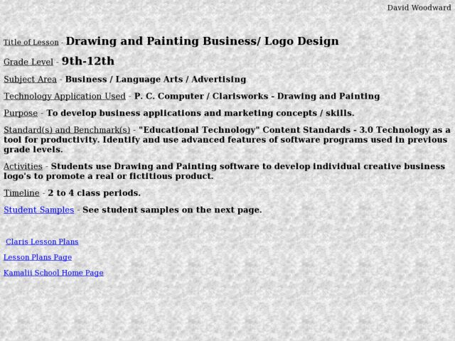 Drawing and Painting Business/ Logo Design Lesson Plan for
