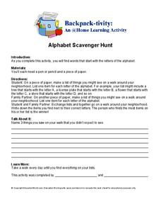 Alphabet Scavenger Hunt Worksheet