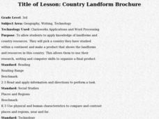 Country Landform Brochure Lesson Plan