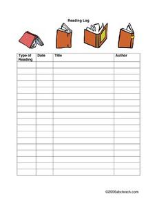 Reading Log Lesson Plan