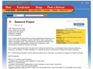 Research Project Lesson Plan