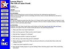 THE LIFE OF ANNE FRANK Lesson Plan