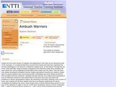Ambush Warriors Lesson Plan