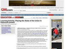 Placing the State of the Union in Historical Context Lesson Plan