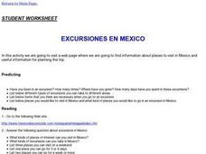 Excursions in Mexico Lesson Plan