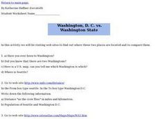 Washington, D.C. vs. Washington State Lesson Plan
