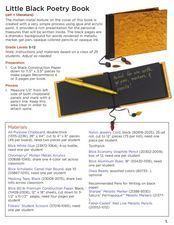 Little Black Book Lesson Plan