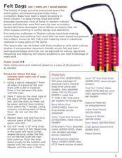 Making Felt Bags Lesson Plan
