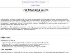 Our Changing Voices Lesson Plan