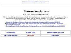 German Immigrants Lesson Plan