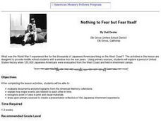 Nothing to Fear but Fear Itself Lesson Plan