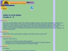 Zero is Our Hero (Grades 6-9) Lesson Plan