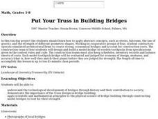 Put Your Truss in Building Bridges Lesson Plan