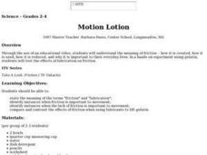 Motion Lotion Lesson Plan