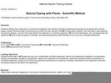 Natural Dyeing with Plants - Scientific Method Lesson Plan