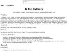 In the Ballpark Lesson Plan