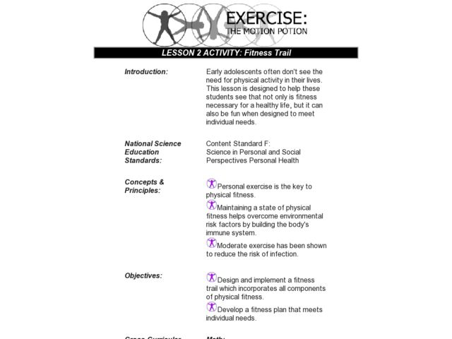 Fitness Trail Lesson Plan