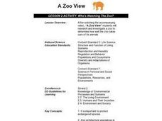 Who's Watching The Zoo? Lesson Plan