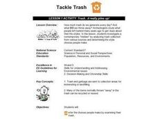 Trash...it really piles up! Lesson Plan