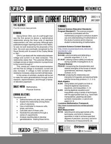 Watt's Up With Current Electricity? Lesson Plan