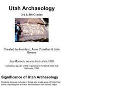 Utah Archaeology Lesson Plan