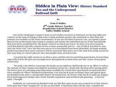 Hidden in Plain View: History Standard Two and the Underground Lesson Plan