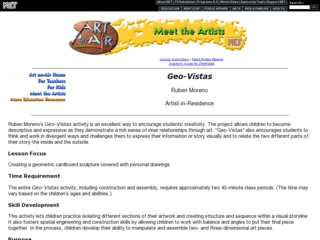 Geo-Vistas Lesson Plan