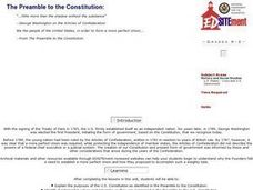 The Preamble to the Constitution Lesson Plan